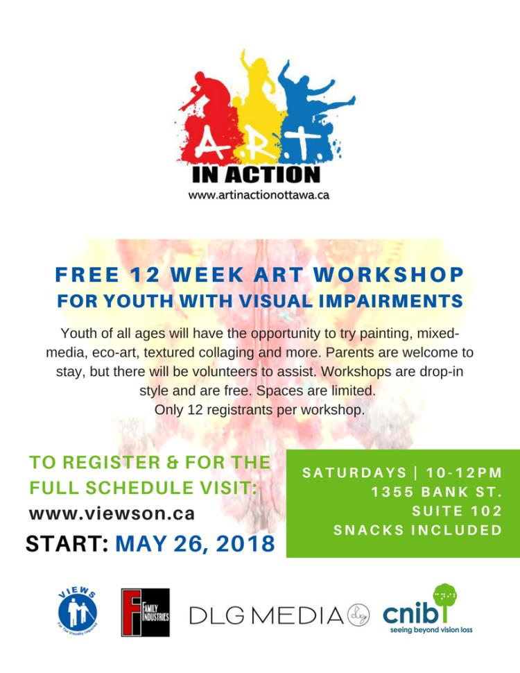 VIEWS CNIB art workshop 2018